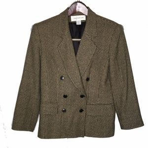 NWOT Jones New York Womens Tweed Blazer Wool Blend